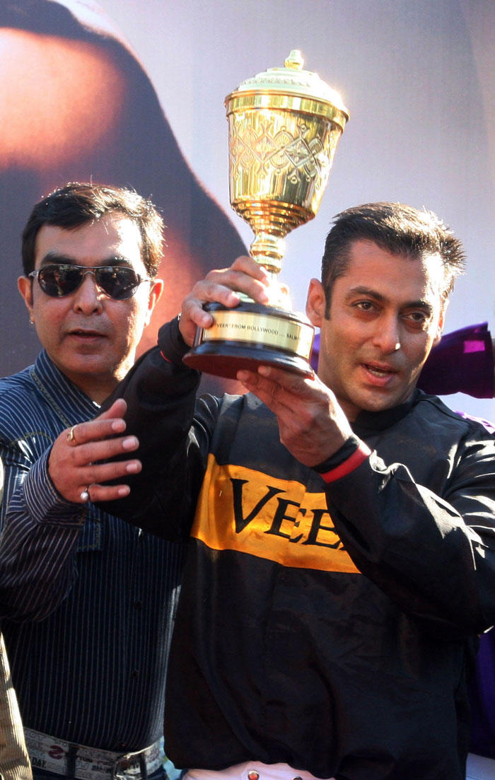 Salman Khan At The Racecourse To Promote Veer