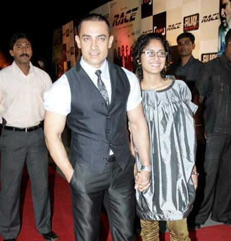 Aamir Khan and Kiran at Race Premiere