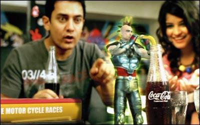 Aamir Khan Coka Cola Ad Still