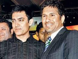 Sachin and Aamir Poses To Photo Shoot
