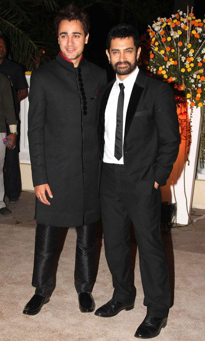 Aamir and Imran Khan Poses at His Reception