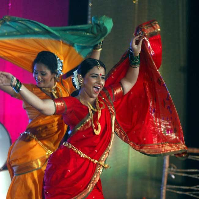 Vidya Dancing With Co-star In Cool Stills