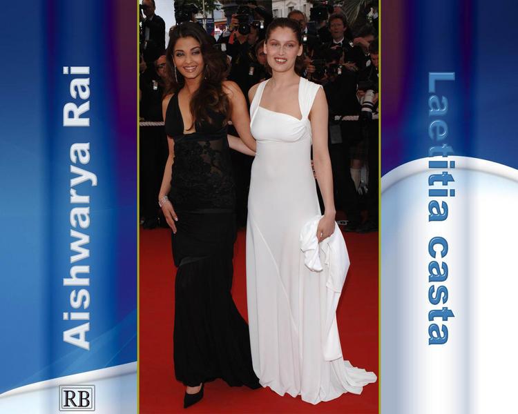 Aishwarya Rai and Laetitia Casta Latest Pic at Cannes