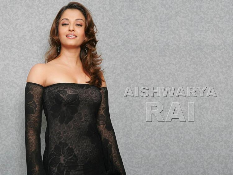Aishwarya Rai Hot Wallpaper In Sexy Sleevefull  Dress
