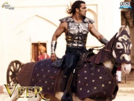 Salman Horse Riding Hot Look In Veer