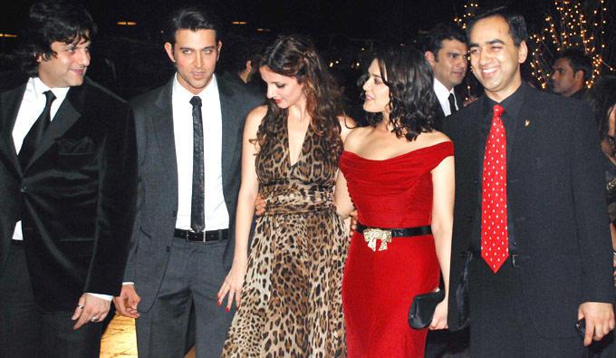 Hrithik Roshan with wife Suzzane at Karan Johar's Birthday Bash