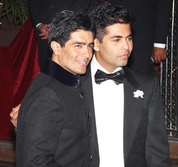 Manish Malhotra With Karan Pose To Photo Shoot