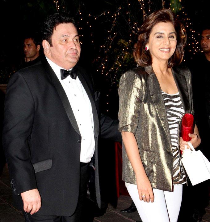 Rishi Kapoor and Neetu Singh at Karan Johar Birthday Party 2012