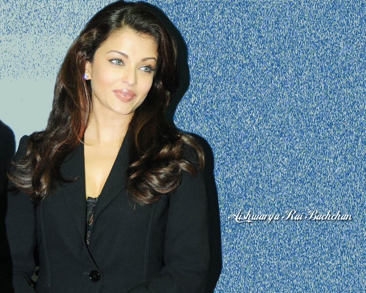 Aishwarya Rai Cute Pose Gorgeous Wallpaper In Blazer