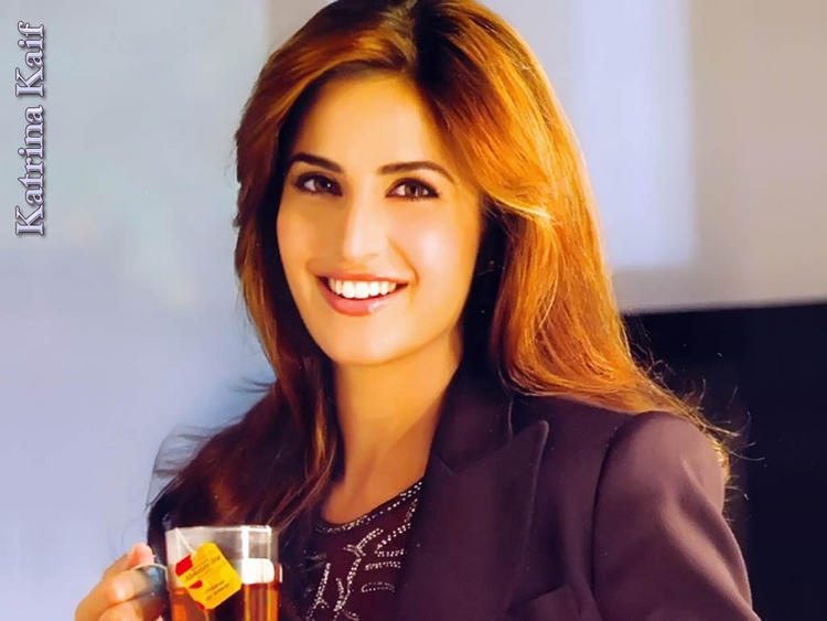 Katrina Kaif Brown Hair Stunning face Wallpaper