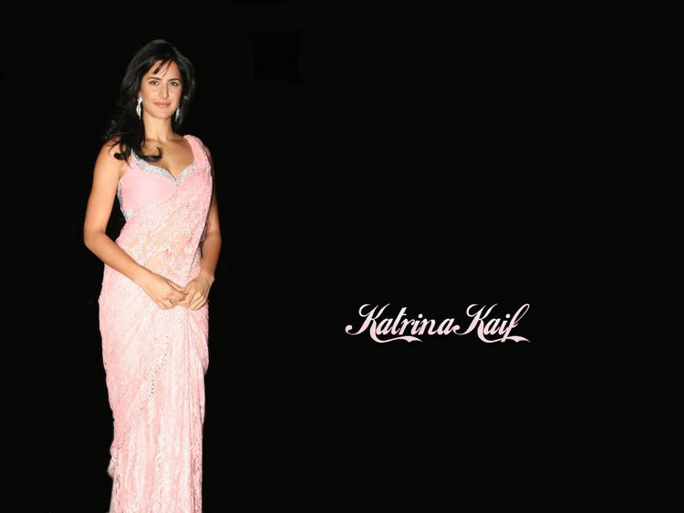 Katrina Kaif Latest Wallpaper In Pink Gorgeous Saree