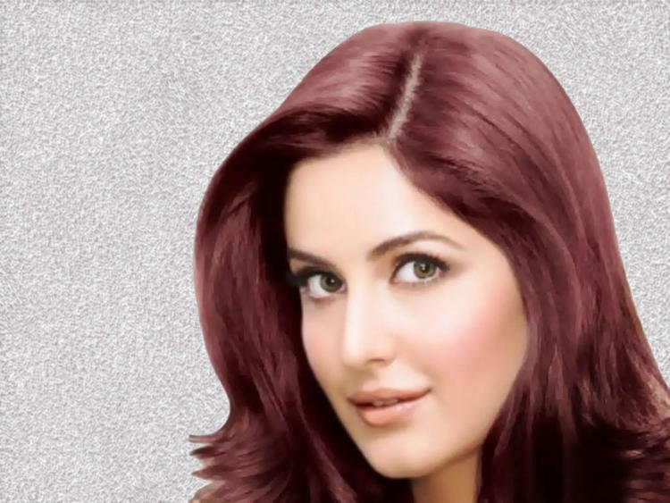 Katrina Kaif Shiny Red Hair Romantic Look Wallpaper