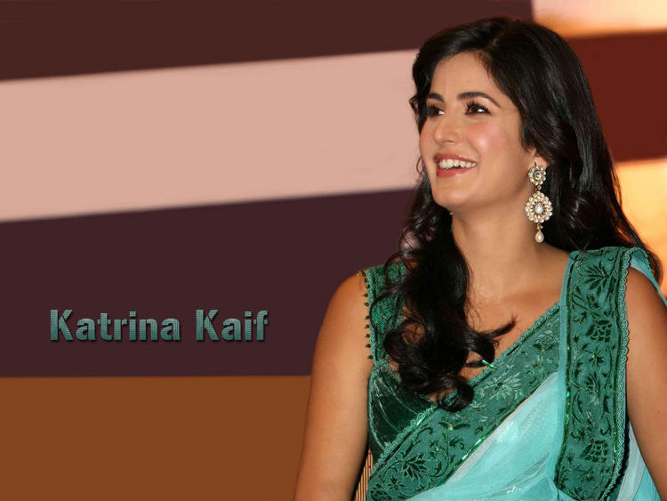 Katrina Kaif Sweet Smile Pic In Saree