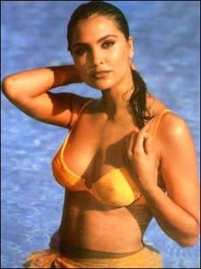 Lara Dutta Wet Outfit Still in Blue