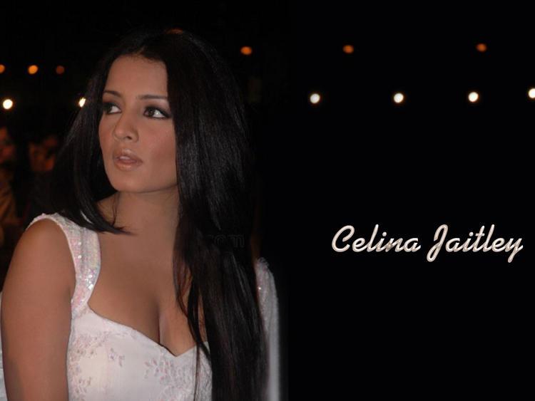 Celina Jaitley Deep Cleavages Glamour Still