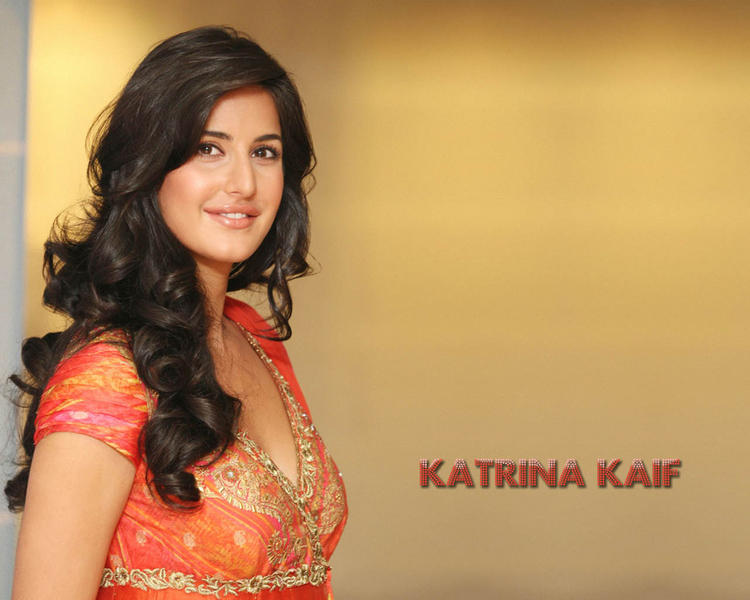 Katrina Kaif Sweet Smile Face Look Wallpaper