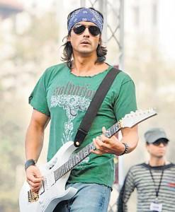 Arjun Rampal Guitar Playing Photo