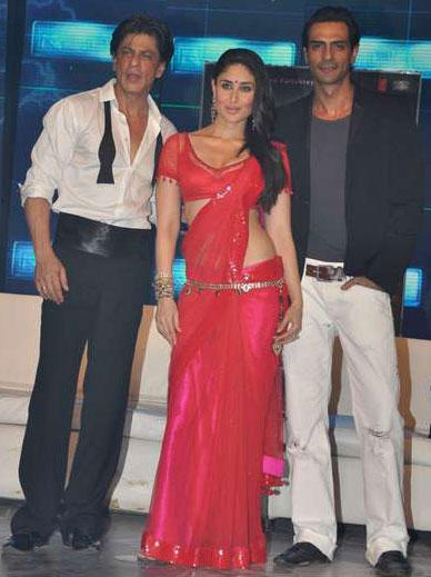 Kareena,Shahrukh and Arjun at Ra One Music Launch