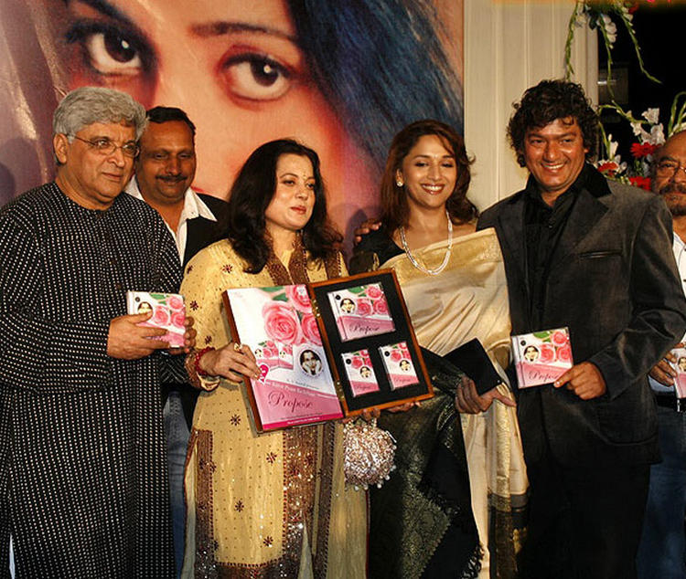 Javed ,Vijayta,Madhuri Dixit and Aadesh Shrivastav Launch a Album