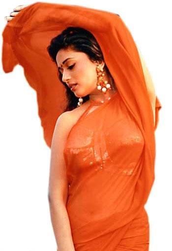 Madhuri Dixit Sizzles In Flaming Orange Saree