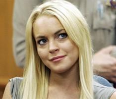 Lindsay Lohan Cute Look In White Hair
