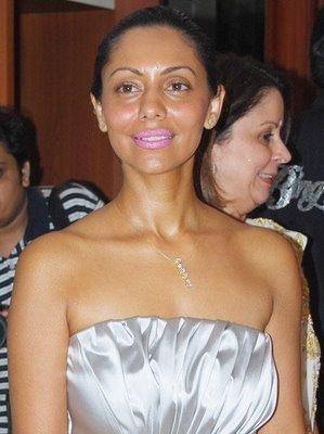 Gauri Khan Strapless Dress Glamour Still