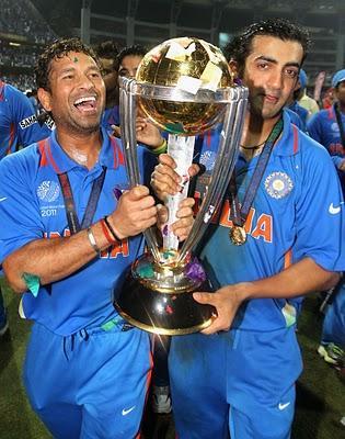 Indian Team Champion World Cup Taken By Sachin And Gautam Gambhir