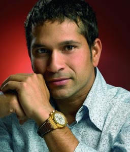 Sachin Dazzling Face Look Showing Watch Pic