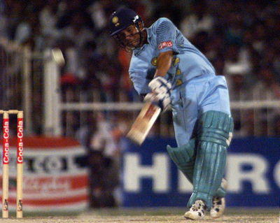 Sachin Out Standing Batting Style Pic