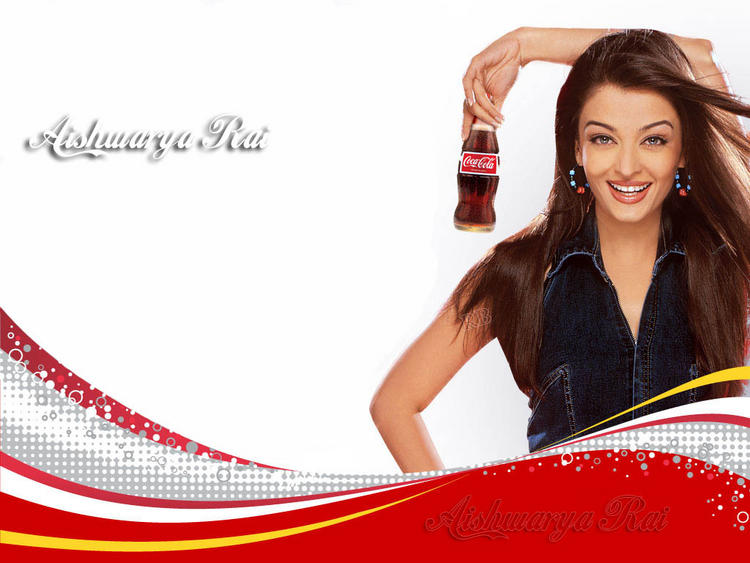 Aishwarya Rai Coca Cola Ad Swetest Wallpaper