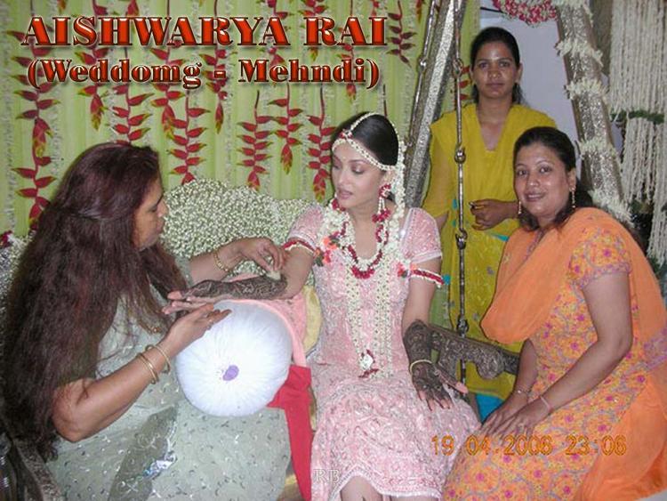 Aishwarya Rai Wedding Mehndi Ceremony Still