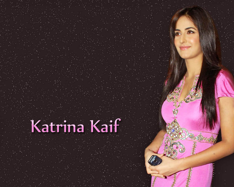 Katrina Kaif Cute Sweet Wallpaper In Pink Dress