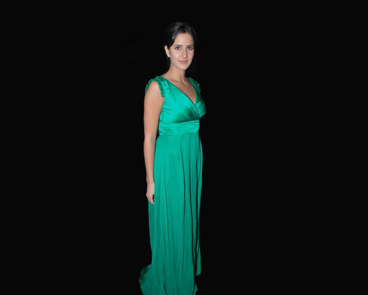 Katrina Kaif Long Green Dress Pic