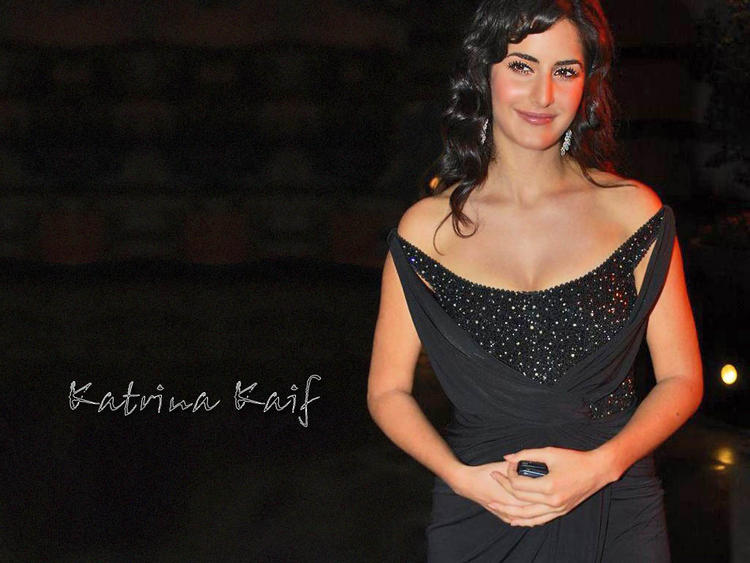 Katrina Kaif Nice Beauty Look In Black Dress