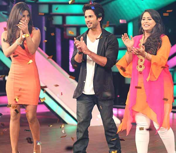 Shahid,Priyanka and Geeta at DID Lil Champs Show On Zee TV