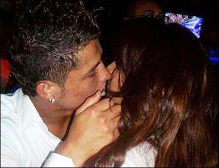 Ronaldo and Bipasha Hot Lip Kiss Still