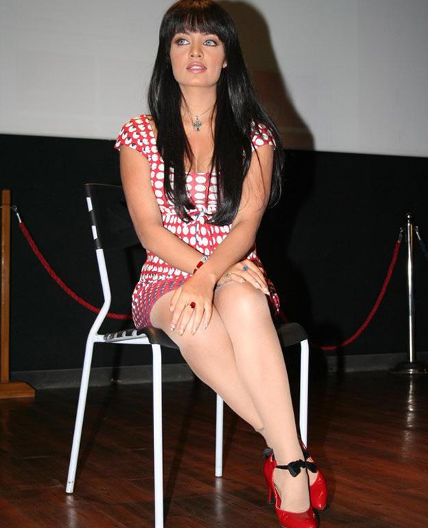 Celina Jaitley Milky Legs Exposing Still