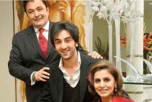Ranbir Kapoor Family Pic With His Father And Mother