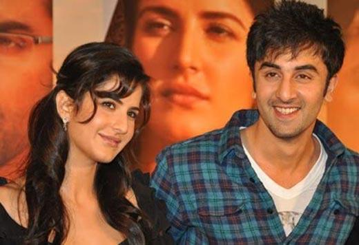 Ranbir With Katrina Kaif Sweet Smiling Pic