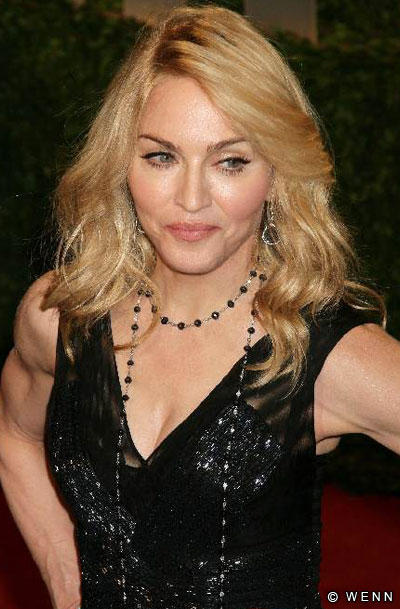 Madonna Looking Beautiful in Black Dress
