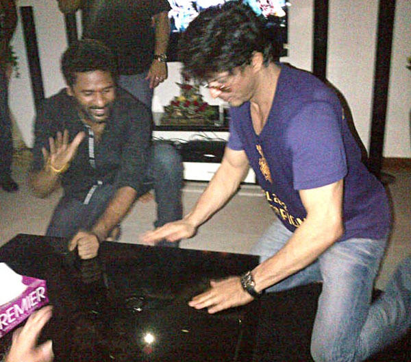 SRK and Prabhu Deva Celebrate IPL Victory