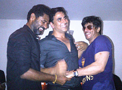 SRK,Akki and Prabhu Deva Celebrate IPL Victory