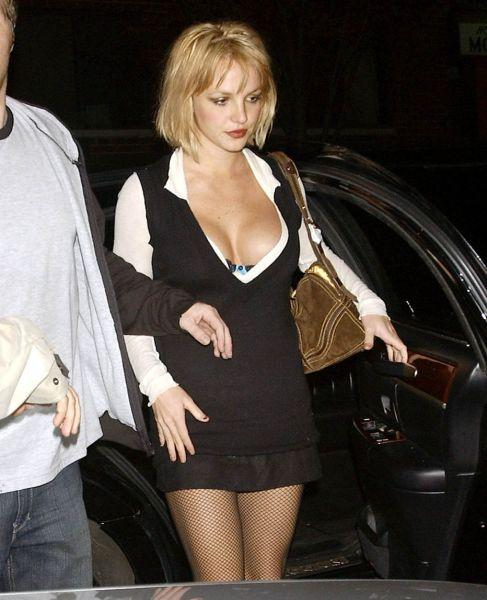 Britney Spears Open Boob Still In Short Dress