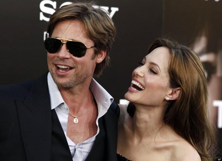 Angelina Jolie and Brad Pitt at Salt Premiere