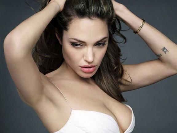 Angelina Jolie Deep Cleavages Exposing Still