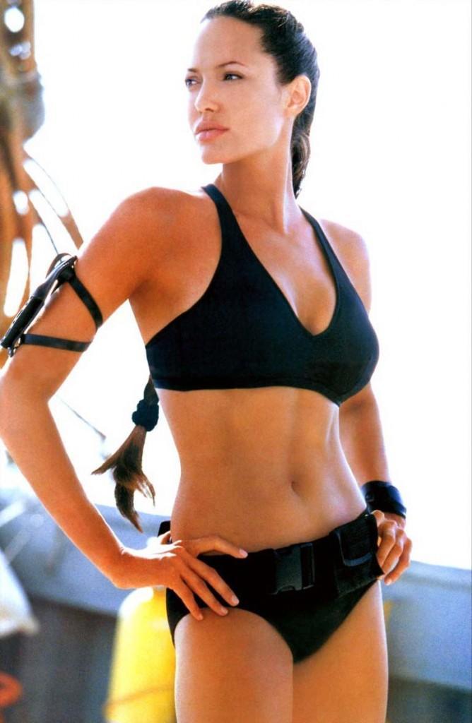 Angelina Jolie Standing In Hot Bikini