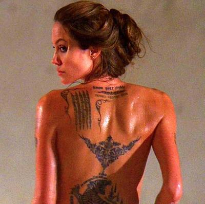 Angelina Jolie Tattoo Exposing Glamour Still