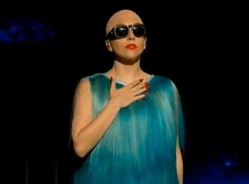 Lady Gaga Bald Still