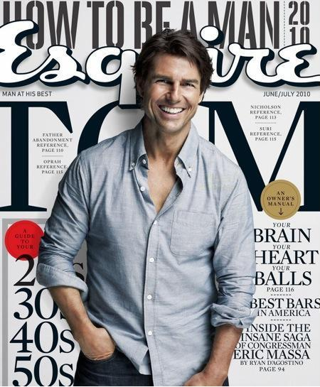 Tom Cruise On Cover Of Esquire Magazine