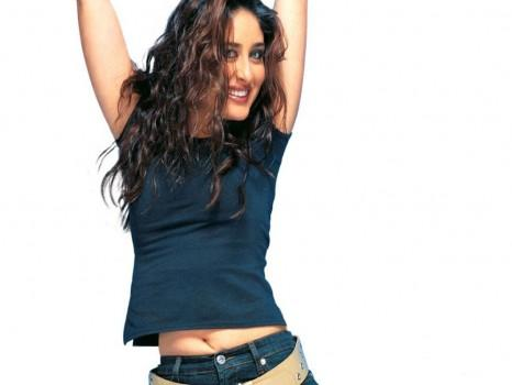 Kareena Kapoor Cute Hot Pic In Curly Hair Style